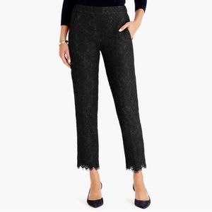 J. Crew Floral Lace Pull On Pants
